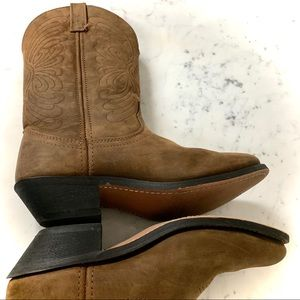 MASTERSON Nubuck Leather Cowgirl Brown Boot -8M